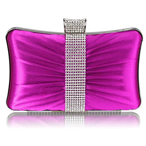 TrendStar - Cartera de mano mujer - Purple Crystal Clutch Bag