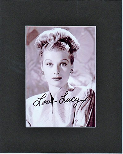 LUCILLE BALL, 8 X 10 MATTED PHOTO AUTOGRAPH DISPLAY