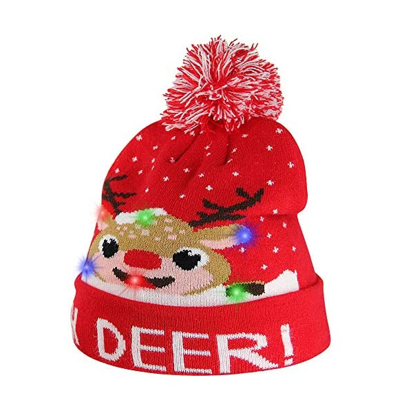 blinkee A1370 Multi Color LED Snowy Winter Christmas Holiday Penguins Beanie Hat