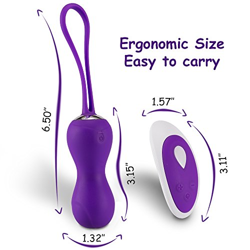 Fondlove Kegel Balls for Bladder Control, Doctor Recommended Women Kegel Exerciser, Wireless Remote Control Rechargeable Dual Kegel Exercise Weights for Tightening
