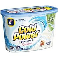 Cold Power Sensitive Laundry Detergent Capsules, 18 pack, 18s 450 grams, Pack of 18