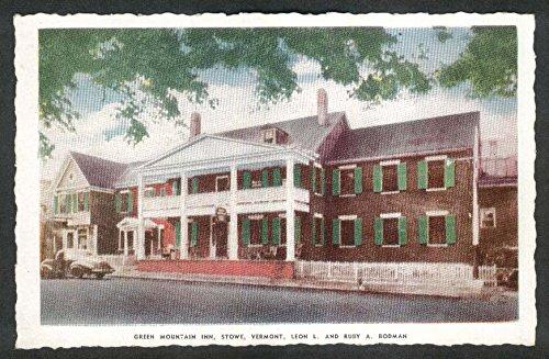 Green Mountain Inn Stowe VT postcard 1950s Leon & Ruby Bodman