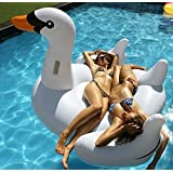 """MarlJohns Giant Rideable Swan Inflatable Float Toy 75"""""""