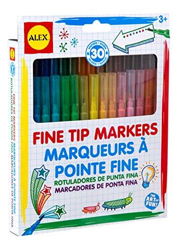 ALEX Toys Artist Studio 30 Washable Fine Tip Markers (Fine Washable Tip Markers)