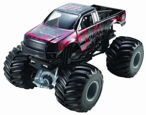 Hot Wheels Monster Jam Northern Nightmare Die-Cast Vehicle, 1:24 Scale
