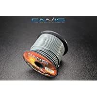 14 GAUGE WIRE GRAY BY ENNIS ELECTRONICS 100 FT SPOOL PRIMARY AUTOMOTIVE AWG COPPER CLAD