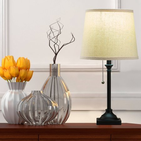 Mainstays Pull Chain 19'' Accent Lamp, Bronze Finish