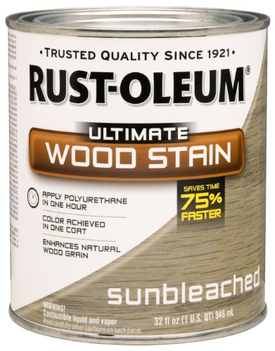 Rust-Oleum 260155 Ultimate Wood Stain, Quart, Sunbleached (Bleached Wood)
