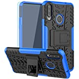 Galaxy A20S Case, with HD Screen Protector, (Not Fit A20) SKTGSLAMY [Shockproof] Tough Rugged Dual Layer Protective Case Hybr