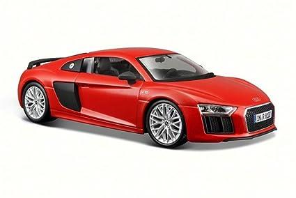 Amazon Com Audi R8 V10 Plus Red Maisto 31513 1 24 Scale Diecast
