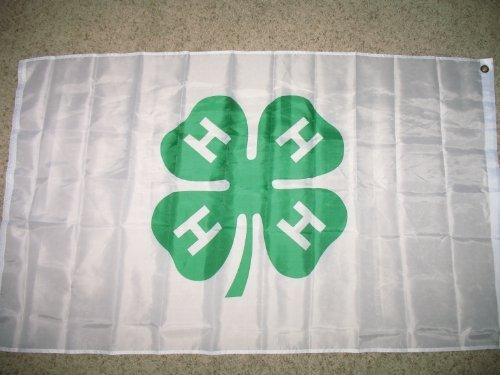 Shamrock 4h 4-H Flag 3x5 Super Polyester Flag by RFCO (Shores Course Golf)