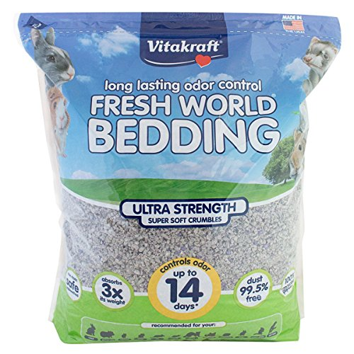 Rabbit Litter (Vitakraft Fresh World Ultra Strength Crumble Bedding for Small Animals)