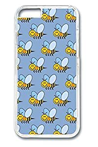 6 plus Case, iPhone 6 plus Case - Slim Fit Cover with Fashion Designs for iPhone 6 Plus Bees Protective Clear Hard Case Bumper for iPhone 6 Plus 5.5 inches