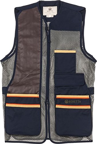 Beretta Men's US Two Tone Shooting Vest - Medium - Total Eclipse Blue