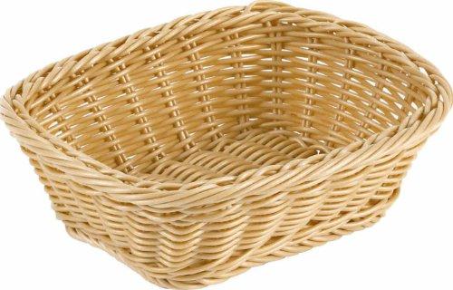 Paderno World Cuisine Rectangular Polyrattan Bread Basket, 16-1/8-Inch by 11-3/8-Inch