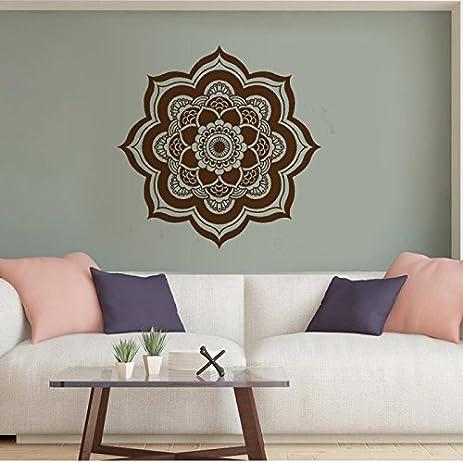 Mandala Wall Decal Yoga Studio Vinyl Sticker VERSION 2 Flower Mamaste Vinyl  Wall Art Decor OM