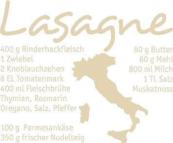 Grazdesign 620111 40 082 Wandtattoo Rezept Lasagne Fur Kuchen Wand