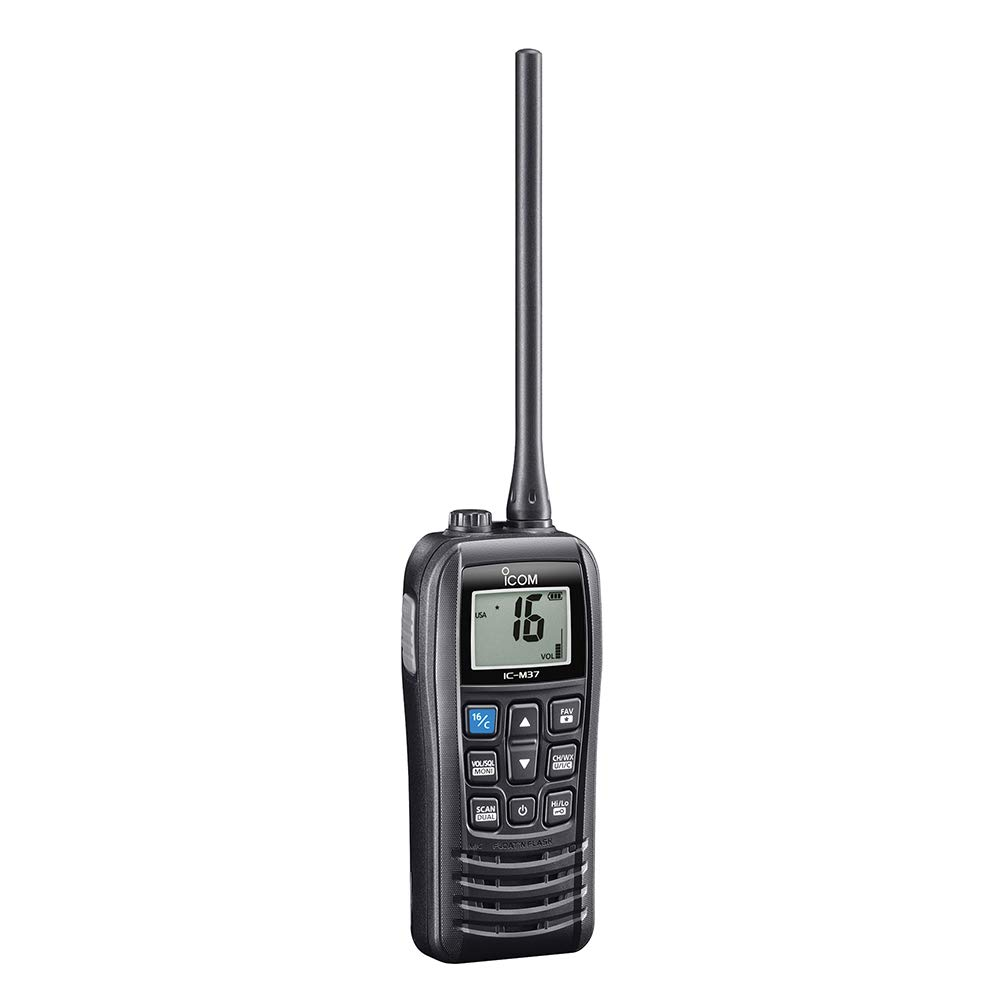 Icom M37 Marine VHF Handheld Radio - 6W [M37] by ICON