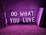 Neon Beer Lights for Bars Wall Sign Decoration Lights Funny Lamp Custom Glass Handmade for Home Room Girls Bedroom Living Room Garage Office Game Room Purple - Do What You Love