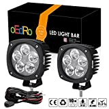 4 inch off road fog light - oEdRo 2PACK 4Inch 50W Round LED Work Light Spot Beam OffRoad Driving Light Fog Lights Pod Waterproof for Jeep Truck SUV Boat 4WD ATV Motorcycle with 2 Leads Wiring Harness, 3 Years Warranty
