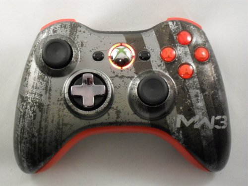 Call of Duty Modern Warfare 3 (COD MW3) Xbox 360 Modded Controller (Rapid Fire) COD Black Ops, MW2, MW3, MOD GAMEPAD RED LEDS
