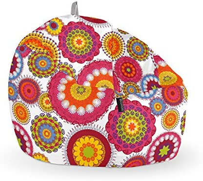 HAPPERS Puff Pelota Estampado Desigual: Amazon.es: Hogar
