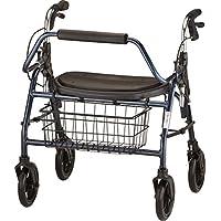 Andador con ruedas para trabajo pesado NOVA Mighty Mack, capacidad de peso de 500 lb, azul