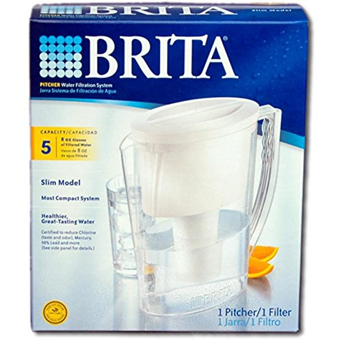 - Brita 5C Slim Pitcher, 5 Cup, White