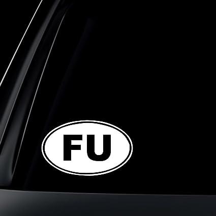 Fu fuck you euro oval car decal sticker