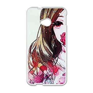 Beautiful Girl Flower White HTC M7 case by icecream design