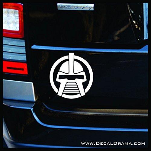 - Cylon Head original SMALL Vinyl Decal | Battlestar Galactica BSG Caprica Adama Starbuck Apollo Athena Cylon So Say We All | Cars Trucks Vans Laptops Cups Tumblers Mugs | Made in the USA