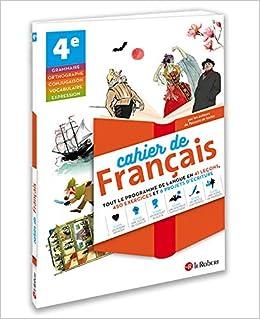 Cahier De Francais 4e Amazon Fr Collectif Livres