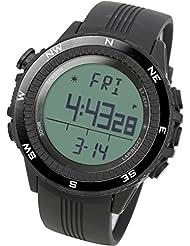 [LAD WEATHER] German Sensor Digital Compass Altimeter Barometer Chronograph Countdown Alarm Weather Forecast Outdoor Sport watches (Climbing/ Hiking/ Running/ Walking/ Camping) Men Casual