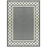 neutral living room Maples Rugs Bella 5 x 7 Non Slip Large Area Rugs [Made in USA] for Living, Bedroom, and Dining Room, Light Brown/Neutral