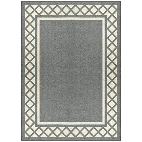 Maples Rugs Bella 5 x 7 Non Slip Large Area Rugs [Made in USA] for Living, Bedroom, and Dining Room, Light Brown/Neutral