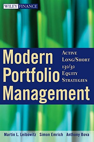 Modern Portfolio Management: Active Long/Short 130/30 Equity Strategies by Wiley