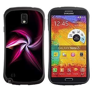 "Pulsar iFace Series Tpu silicona Carcasa Funda Case para Samsung Note 3 , Blanco Negro Shuriken Ninja Resumen"""