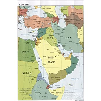 Amazon 24x36 poster cia map of middle east iraq iran israel 24x36 poster cia map of middle east iraq iran israel 2010 antique reprint gumiabroncs Images