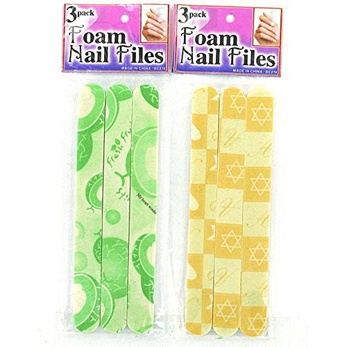 96 Foam nail files by FindingKing