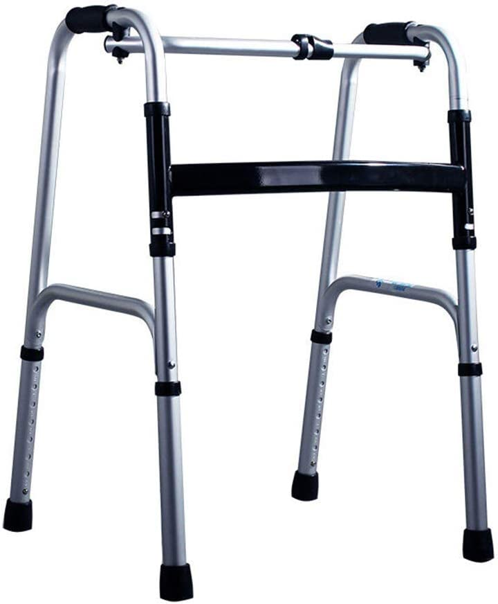 ST-ST 補助歩く折りたたみウォーカー四本足の高齢軽量アルミウォーカーノンスリップウォーキングスティックで病院