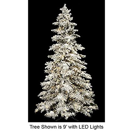 Amazon.com  SilksAreForever 9 Hx65 W Heavy Flocked Pine LED-Lighted ... 1d366ffa5