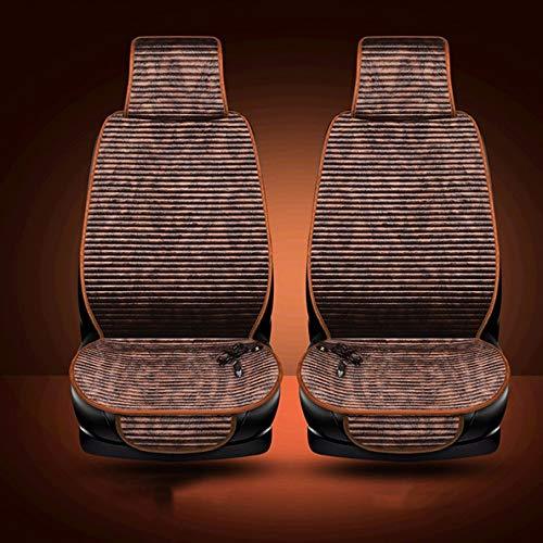 KNOSSOS Cuscino riscaldante per seggiolino Auto riscaldato con Cuscino riscaldante per Auto elettrica 12V - caffè