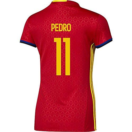 過去酔ってエキスAdidas PEDRO #11 Spain Women's Home Jersey UEFA FURO 2016 (Authentic name & number) /サッカーユニフォーム スペイン ホーム用 ペドロ レディース向け
