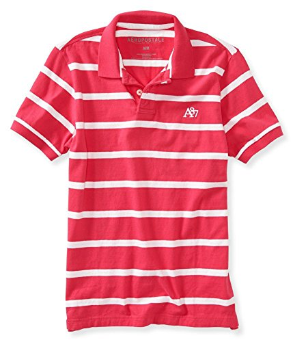 Aeropostale Rugby (Aeropostale Mens A87 Striped Rugby Polo Shirt 679)