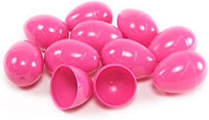 Pink Plastic 2.25 Easter Eggs 50 Pack