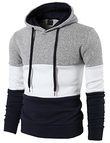 H2H Knitted Pullover Sweater Collar