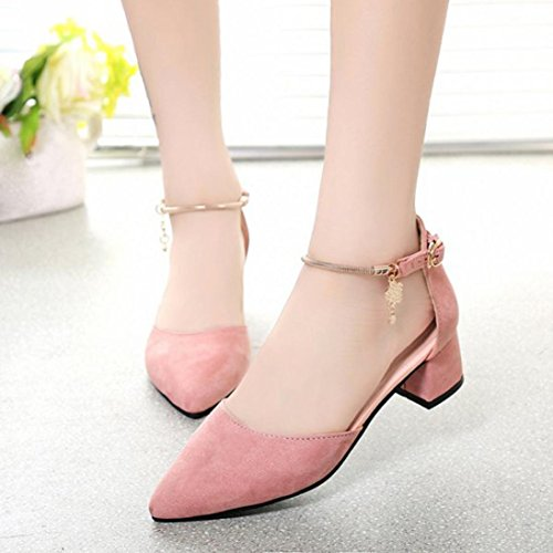 Binmer(TM) Women High Heels Shoes Summer Wedding Platform Wedge Sandals Shoes Pink oDK6Y5ulmz