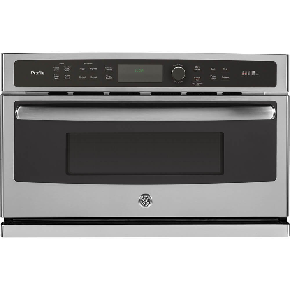 "GE PSB9120SFSS Profile Advantium 30"" Stainless Steel Electric Single Wall Oven - Convection - Speed Oven"
