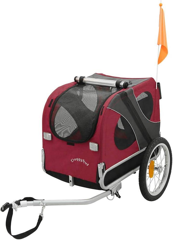 DOGGYHUT Remolque medio para perros Remolque de Bicicletas 60301 ...