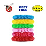 #9: Mosquito Repellent Bracelet (20 pack), Hip2cart Natural Pure and Waterproof Wrist Band, Deet-free and Bugs Free, Lasts Up to 300 Hours for Kids and Adults